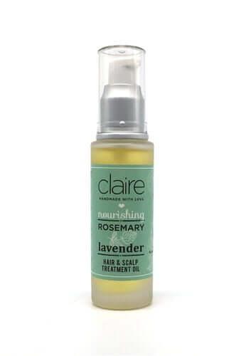 Claire Organics Lavender Rosemary Hair & Scalp Treatment Oil